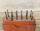 Vintage Specialty Drill Bit Lot - Tiny Rotary Bits - Burr Engraving Dremel Bits - Micro