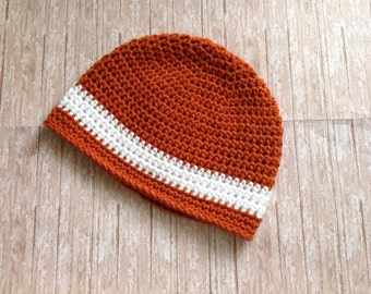 University of Texas Football Hat/Texas Longhorns hat/UT Football Beanie Hat (fits baby to adult)