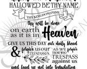 Lord's Prayer Canvas art CUSTOM WHITE COLOR