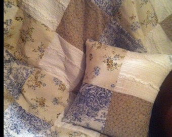 Shabby Chic Toile Quilt