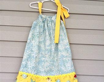 Pretty Toddler Girls Pillow Case Dress Add Personalization Option