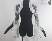 Bridal lace shrug, art nouveau bolero, ivory, Somnia Romantica, approx size small see item details for measurements