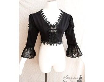 Bolero Victorian, steampunk shrug, goth jacket, gothic, Somnia Romantica, size medium, see item details for measurements