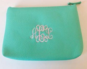 PERSONALIZED COSMETIC BAG - Cosmetic Bag - MIni Accessory Bag -  Personalized Cosmetic - Monogrammed Cosmetic Case - Personalized Make Bag