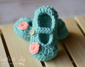 Little Dot Baby Mary Janes Crochet Pattern DIGITAL DOWNLOAD