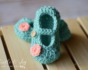 Little Dot Baby Mary Janes Crochet Pattern DIGITAL DOWNLOAD