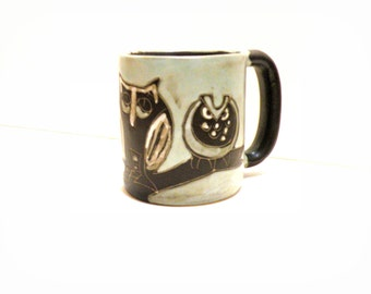 Owl Coffee Cup Owl Lover Stoneware Mug Gifts for Her Oversized Owl Home Decor Lover Coffee Mug Best Friend Gift Thank You Bird Lovers Gift