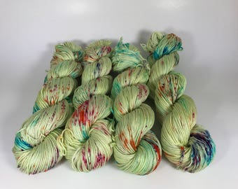 Carrie Cotton DK, dk, Pima Cotton, 100 grams, Hand Dyed Yarn, double knitting, Haute Shot OOAK