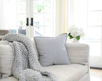 Chunky Knit Blanket,Chunky Knit,Chunky Knit Throw,Blanket,Knitted Blanket,Wool Blanket,Big Blanket,Queen Size,Bulky Knit Blanket,Chunky
