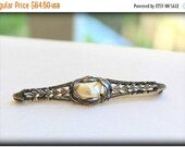 NEW YEARS CLEARANCE Antique Sterling Silver and Natural Pearl Bar Brooch in excellent Condition