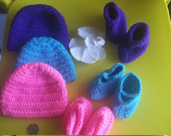 Preemie Crochet Hat & Booties