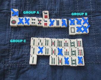 Mahjong Game Tiles Mixed Designs - 12 per set - Jewelry Making