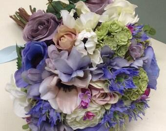 Artificial bride's bouquet.