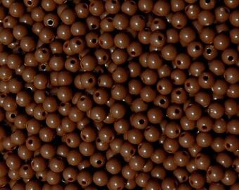 6mm Round Brown Beads 500pc