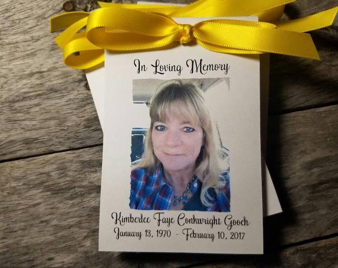 Memorial Sympathy Keepsake Gift Favors Flower Seeds for Funeral or Wake Keepsake