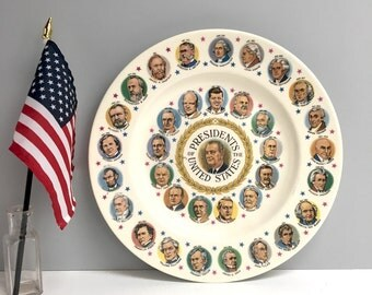 Presidents of the United States decorative souvenir plate - Lyndon Johnson era - 1960s