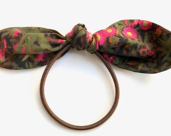 Liberty of London Hair Bow - New from Dusty Plum.  Sweet Bow on Elastic perfect for Pretty Ponytails