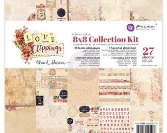 PRIMA's 2017 Love Clippings Collection Kit 8x8