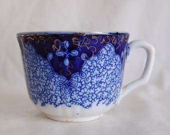 Flow Blue Tea Cup Etsy