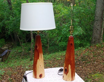 Beautiful Eastern Red Cedar Lamps from BlackWater Workshops