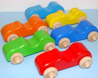 Wooden  Toy Cars ( Set of 6 )- Party Favorite