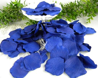 200 Blue Petals - Rose Flower Petals - Artificial - Silk Blue Petals - Flower Girl Petals - Table Scatter - Floral Craft - Tossing Petals