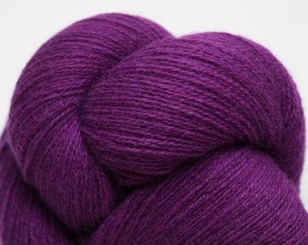 Orchid Purple Lace Weight Recycled Cashmere Yarn, CSH00234