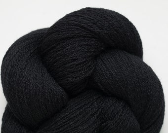 Black Panther Recycled Extra Fine Grade Merino Lace Weight Yarn, EFM00214