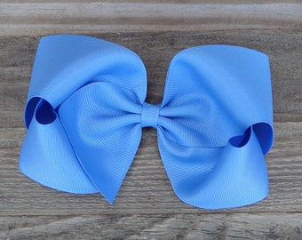 XL Boutique Hair Bow~Blue-Bird Hair Bow~M2M Matilda Jane Bow~Large Boutique Bow~Basic Hairbow~Solid Color Hair Bow~Big Hair Bow~Big Bows