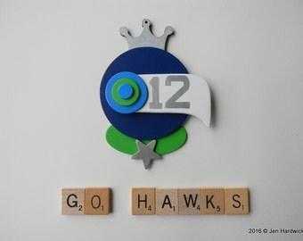 Bird Ornament - Seahawks Ornament - Hanging Decor by Jen Hardwick
