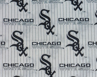 Chicago White Sox, White Sox Fabric, MLB Fabric, Cotton fabric, By the Half Yard