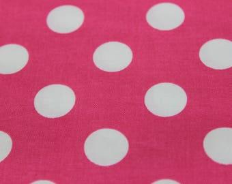 Pink Polka Dot Chevron Cotton Fabric by Riley Blake. Aprons, summer dresses, skirts, Pillowcases, Vintage Fashion Flirty Skirt, Headbands