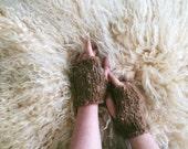 OOAK Sustainably Knit Alpaca Fingerless Gloves | Handwarmers | Knit Gloves | Mittens