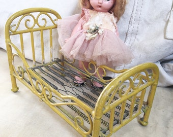 Antique Metal German Marklin Firm Doll Bed