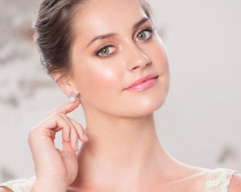 Bridal Earrings bridal studs, pearl studs, crystal studs, bridal jewellery, Cubic Zirconia Crystal studs, Deco studs, 1920s earrings,