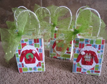 Ugly Christmas Sweater Party Favor Bags - Set of Six