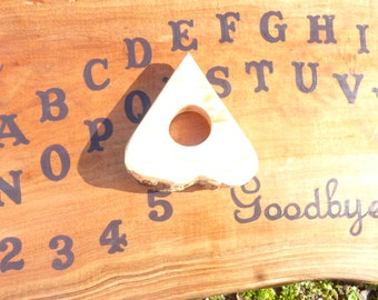 Ouija Board Witchboard Occult Tool Pentagram Star Pagan Wiccan Large Wood Slab Wooden Game With Planchette Paranormal Spirit Haunted Scary