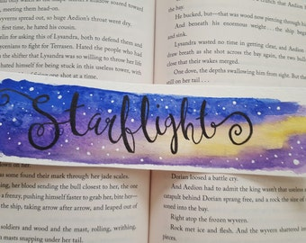 Starflight Watercolor Bookmark
