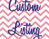 Custom Listing for Allison
