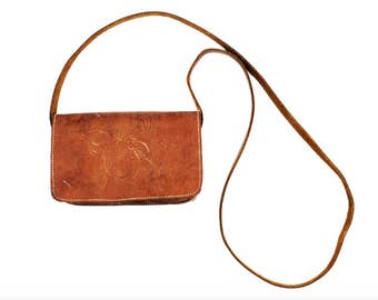1960s Nouveau Tooled Leather Purse