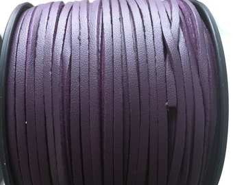 Leather Suede Cord, Purple Suede Cord, Purple Faux Leather Suede Cord, Purple Coated Suede Leather (3yards- 2.7m)  S 40 155