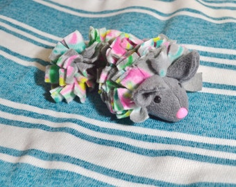 NEW Custom Made Fluffy Chinchilla All Fleece Snuggle Buddy Stuffed Toy, for Small Pets or Anyone!