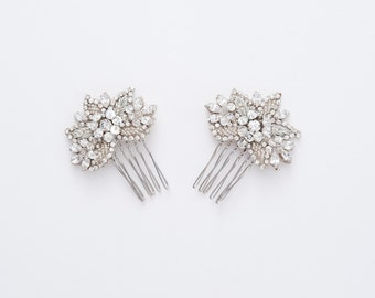 Bridal hair comb Set Of 2, bridesmaid headpiece, wedding headpiece, wedding hair,  Hp170687