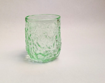 Hand Blown Drinking Glass, Sea Coral Tumbler in Pale Green, Transparent Sea Glass, Holiday Gifts, Entertaining