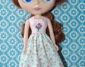 New Years Sale Silk Ribbon Pink Bouquet Dress for Blythe
