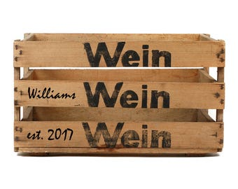 Personalized European Vintage Wine Crate, Limited Edition