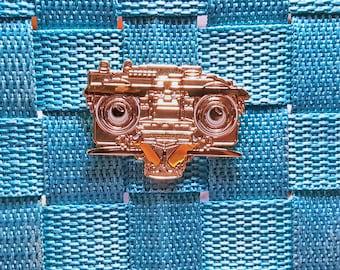 Short Circuit 2 Jonny 5 Gold Hard Enamel Pin 1980s Nostalgia / Lapel Pin / Hat Pin by Tom Ryan's Studio