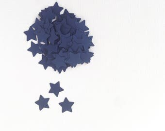 Dark Navy Blue Star Confetti, Party Decor, Weddings, Showers, Patriotic, Nautical, Set of 200