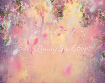 NEW BACKDROP 4ft x 4ft  Vinyl Photography Backdrop / Falling BLOSSOMS