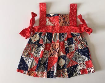 1980's Patchwork Sun Dress (12/18 months)